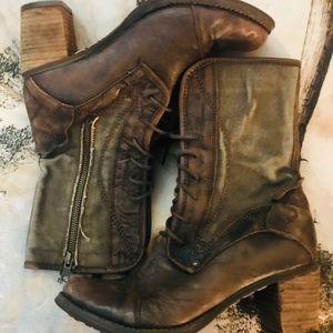 Anthropologie Feud Brittania steampunk boots 39
